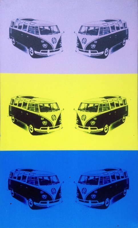 Unknown Pop Art artist - 70s Volkswagen print