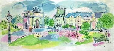 Raoul DUFY -Park in Paris, large oil painting