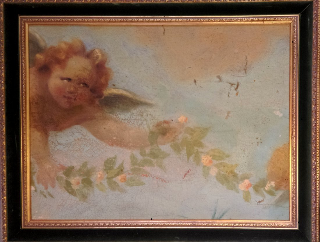 Anonymous artist 18th/19th Century -Painting of a angel - 2