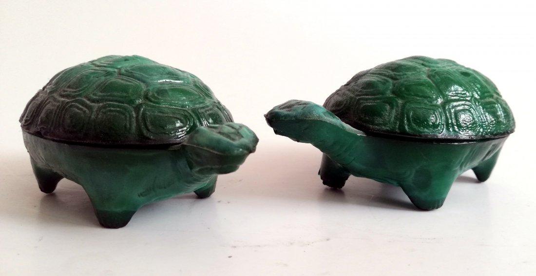 Czech Ingrid Glass Art Deco Turtles (2)