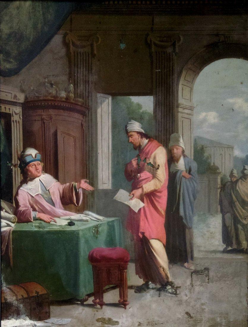 Anonymous artist Oil/canvas,Religious scene ca. 1790