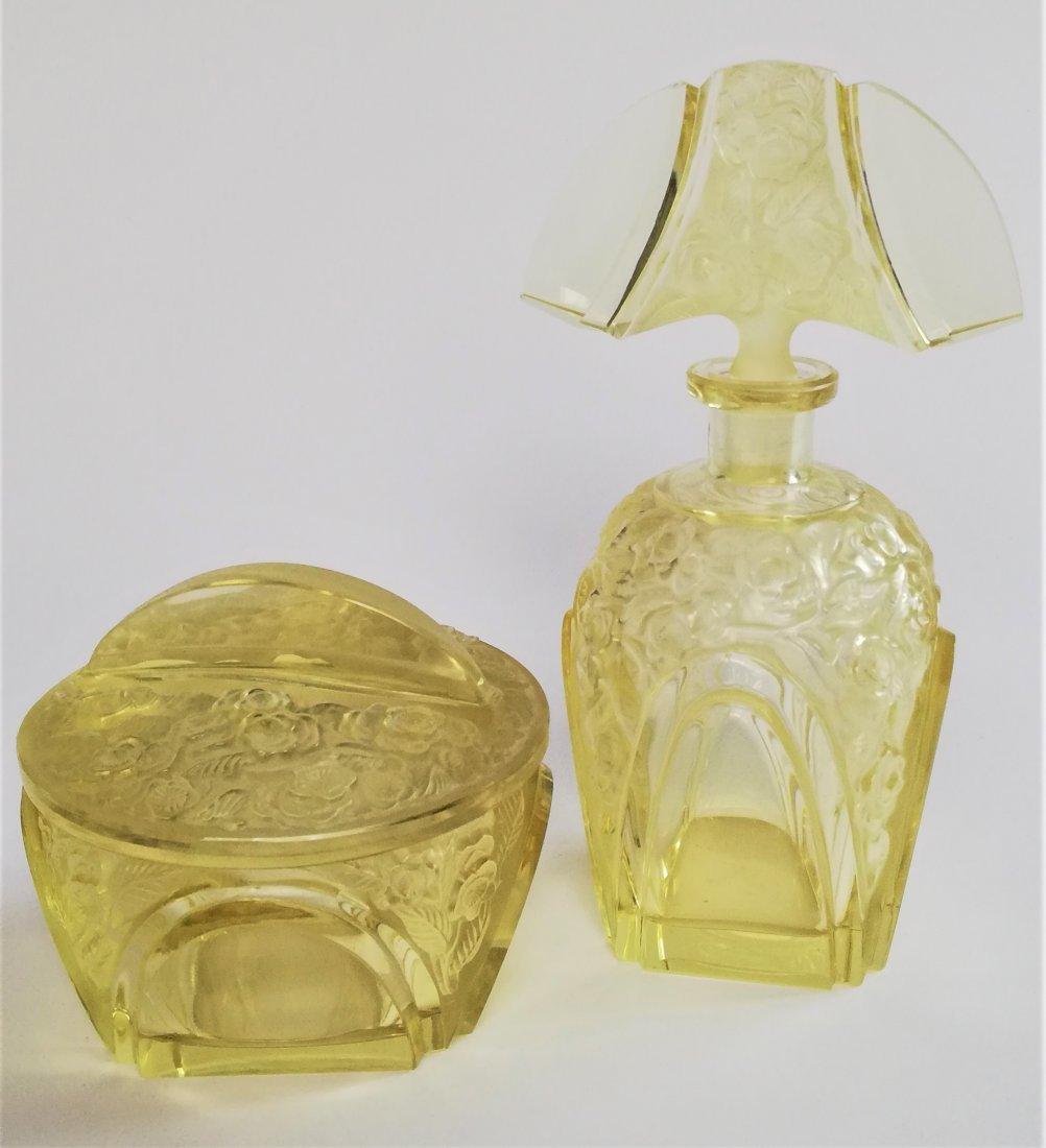 Czech Art Deco Hoffmann vanity set 1920