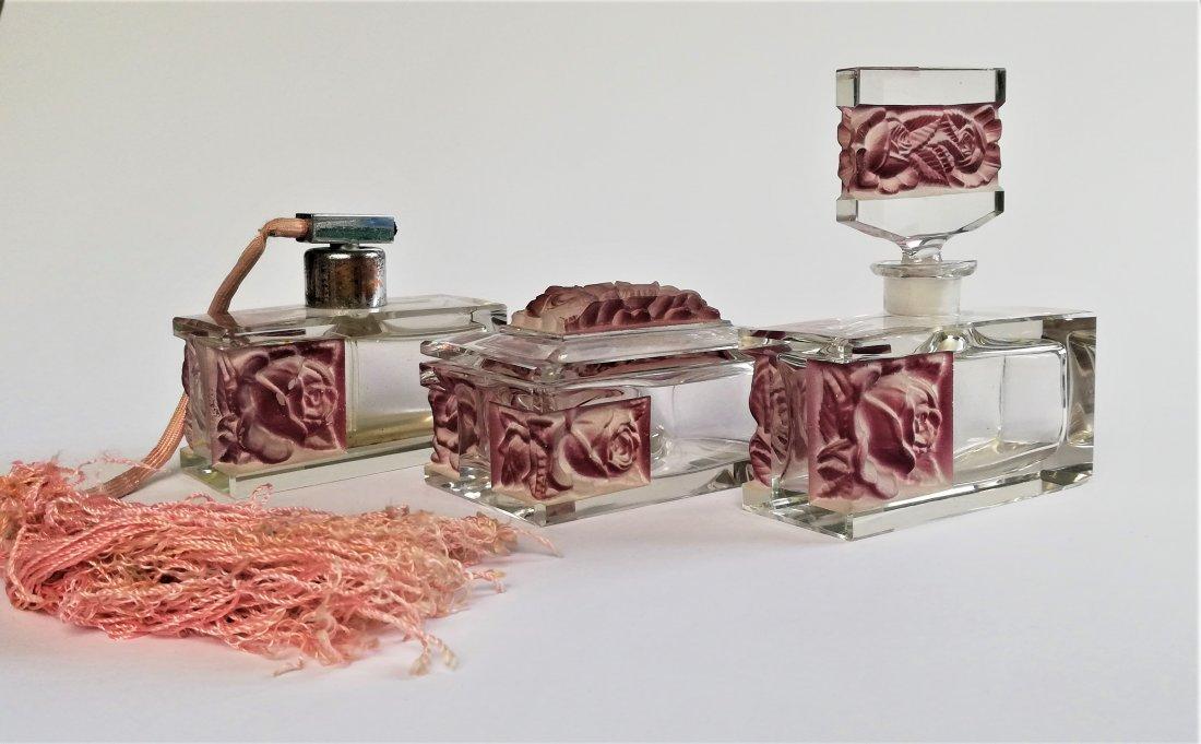 1920s Bohemian Art Deco Hoffmann vanity set