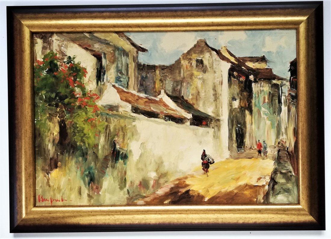 Koempoel SUJATNO (1912- 1987) Indonesian street scene
