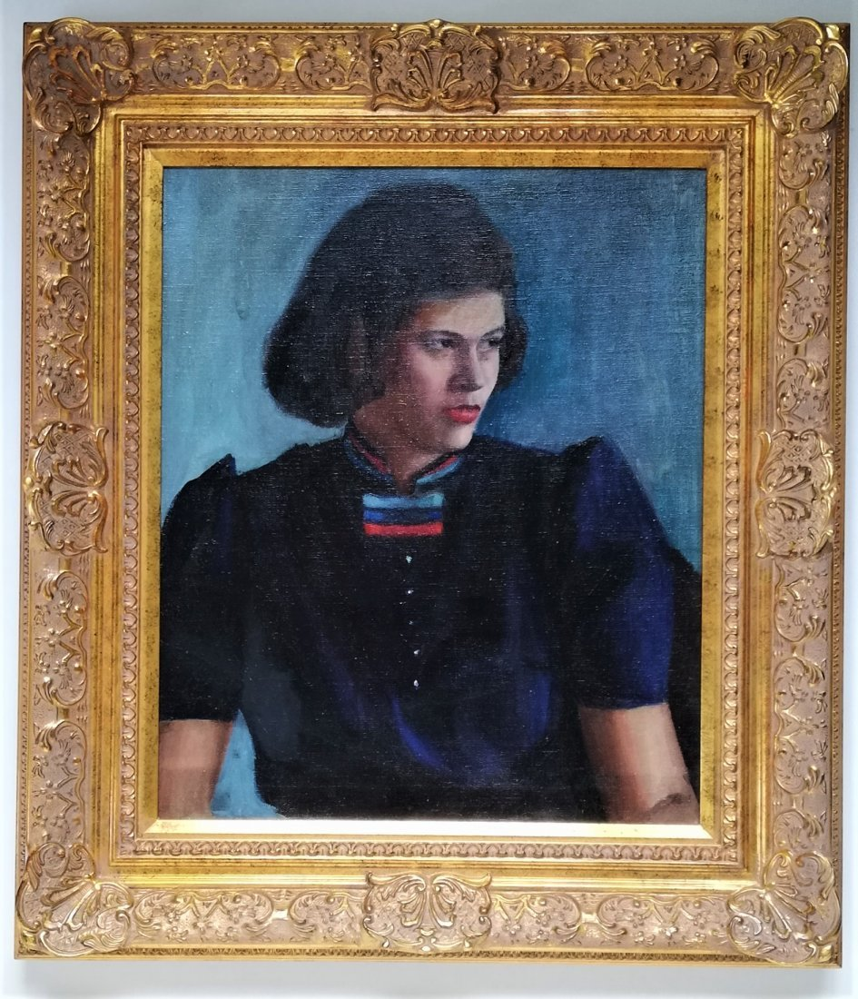Unknown artist portrait painting young woman