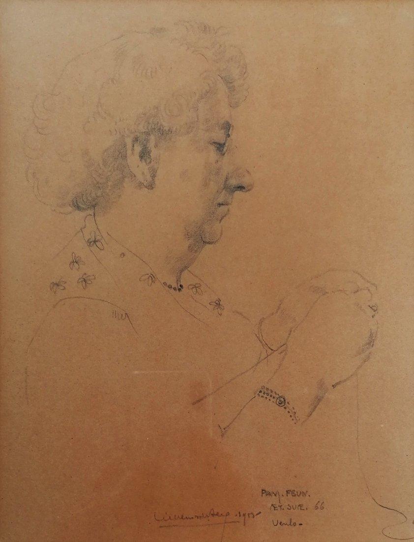 Willem van den BERG (1886- 1970) - Portrait, drawing