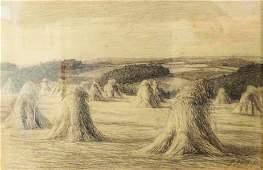 Albin SCHLEHAHN 18701939  Harvest drawing