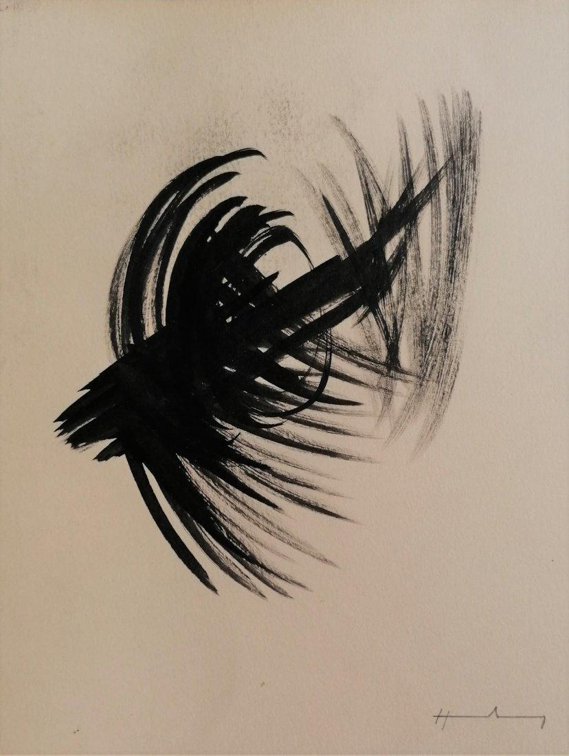 Hans HARTUNG (1904-1989)  - Composition, 1956