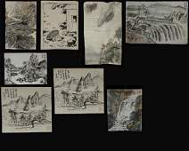 A group of eight Chinese 'landscape' paintings