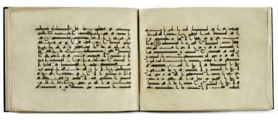 A BOUND GROUP OF TWENTY-NINE LEAVES FROM SEVEN SURAHS