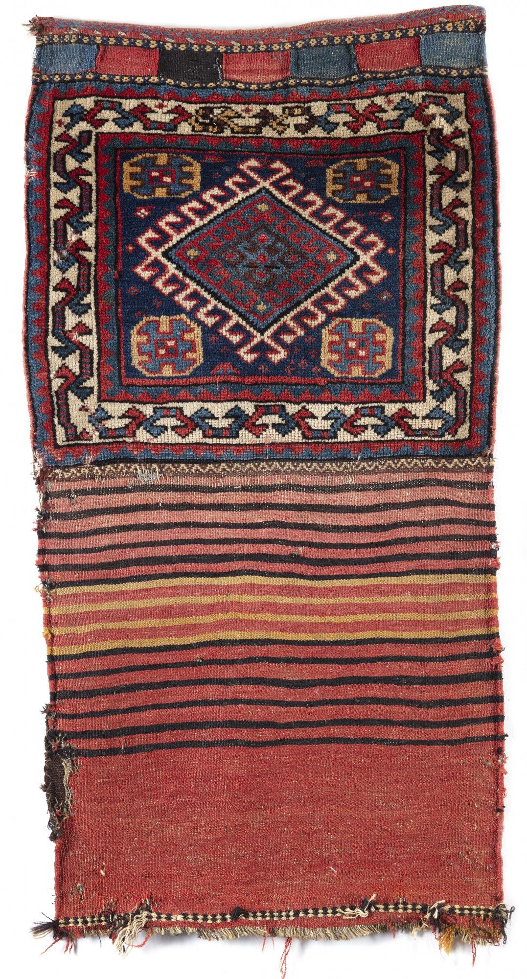 TWO GASHQAI BAG FACES, SOUTH PERSIA, 19TH CENTURY