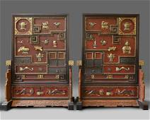 A PAIR OF EXCEPTIONAL LARGE CHINESE PRECIOUS