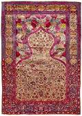 A KASHAN KASTELI AND CO SILK PRAGER RUG, PERSIA, LATE