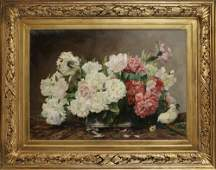 A LARGE OIL PAINTING, D. MANSEN, FRANCE, 19TH CENTURY