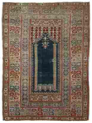 A GHIORDES PRAYER RUG, CIRCA 1900
