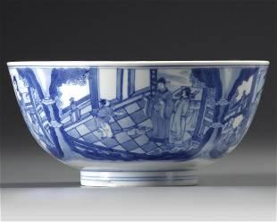 A CHINESE BLUE AND WHITE BOWL, KANGXI (1662-1722)