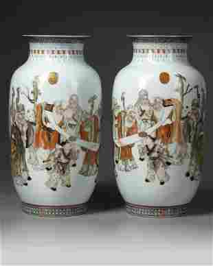 A PAIR OF CHINESE VASES, REPUBLIC PERIOD (1912-1949)