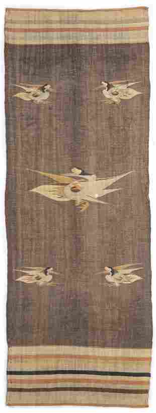 A CHINESE WOOLLEN BLANKET, QING DYNASTY (1644-1911)