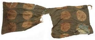 A GREEN/BROWN SILK ROBE, HAN DYNASTY (206 BC-24 AD)