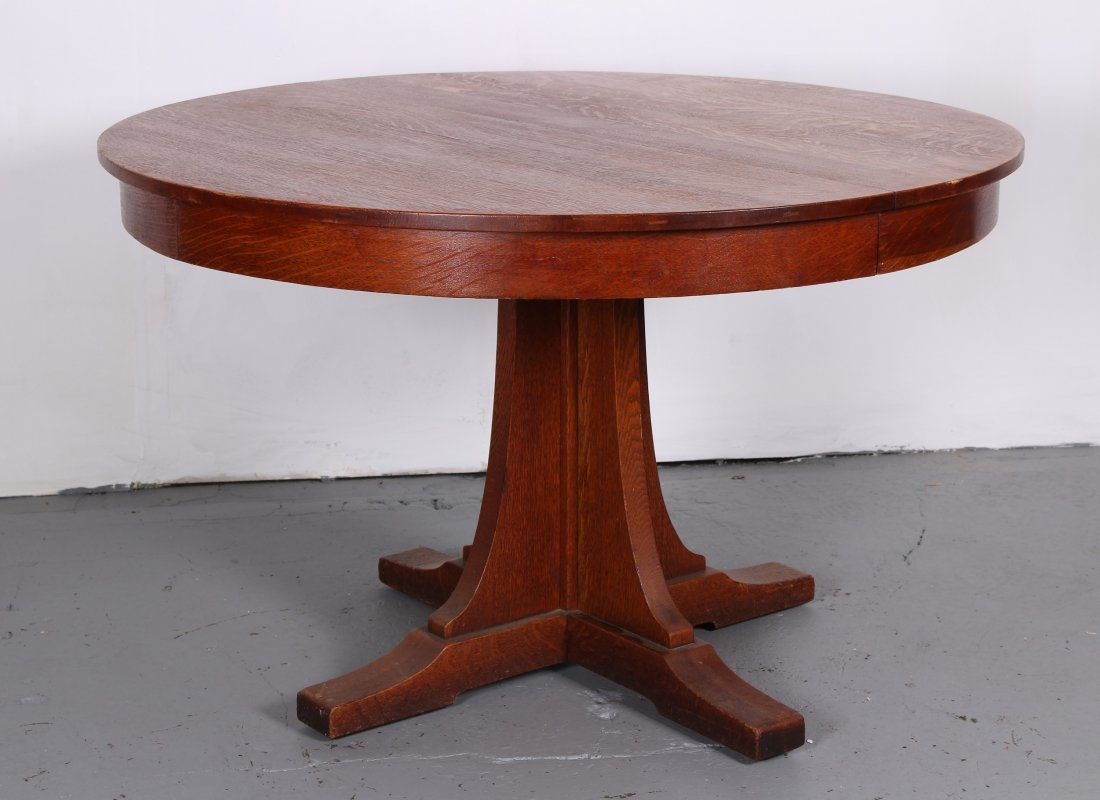 Labeled L & JG Stickley Oak Dining Table