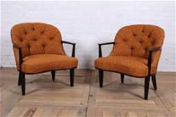 Pair Edward Wormley for Dunbar Armchairs