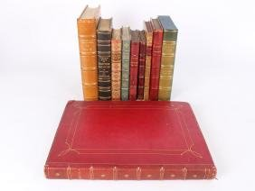 10 Leather Bound Books