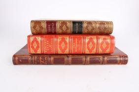 3 Leather Bound Books