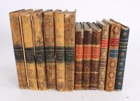 Collection Of 19th C Leather Bound Books