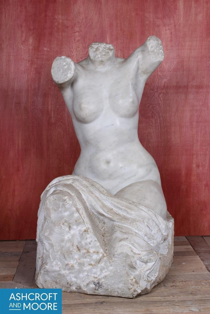 Carved Marble Figural Torso