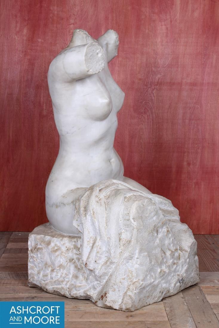Carved Marble Figural Torso - 2