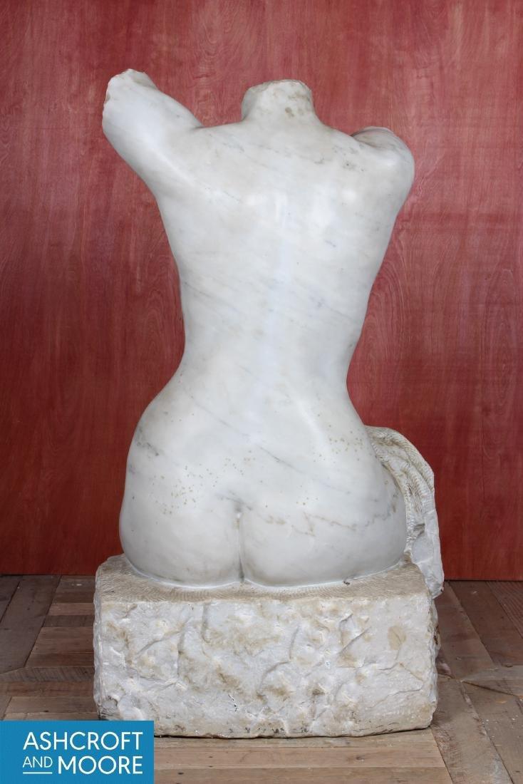 Carved Marble Figural Torso - 4