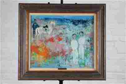 Vu Cao Dam (Vietnamese, 1908-2000) Painting, 1973.