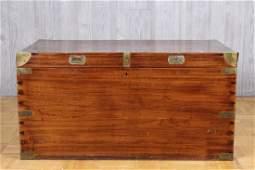 Good 19th C English camphor wood campaign trunk