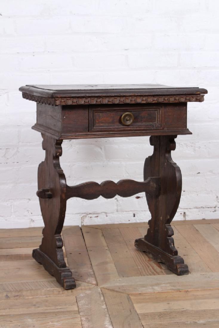 Antique Italian Walnut Side Table