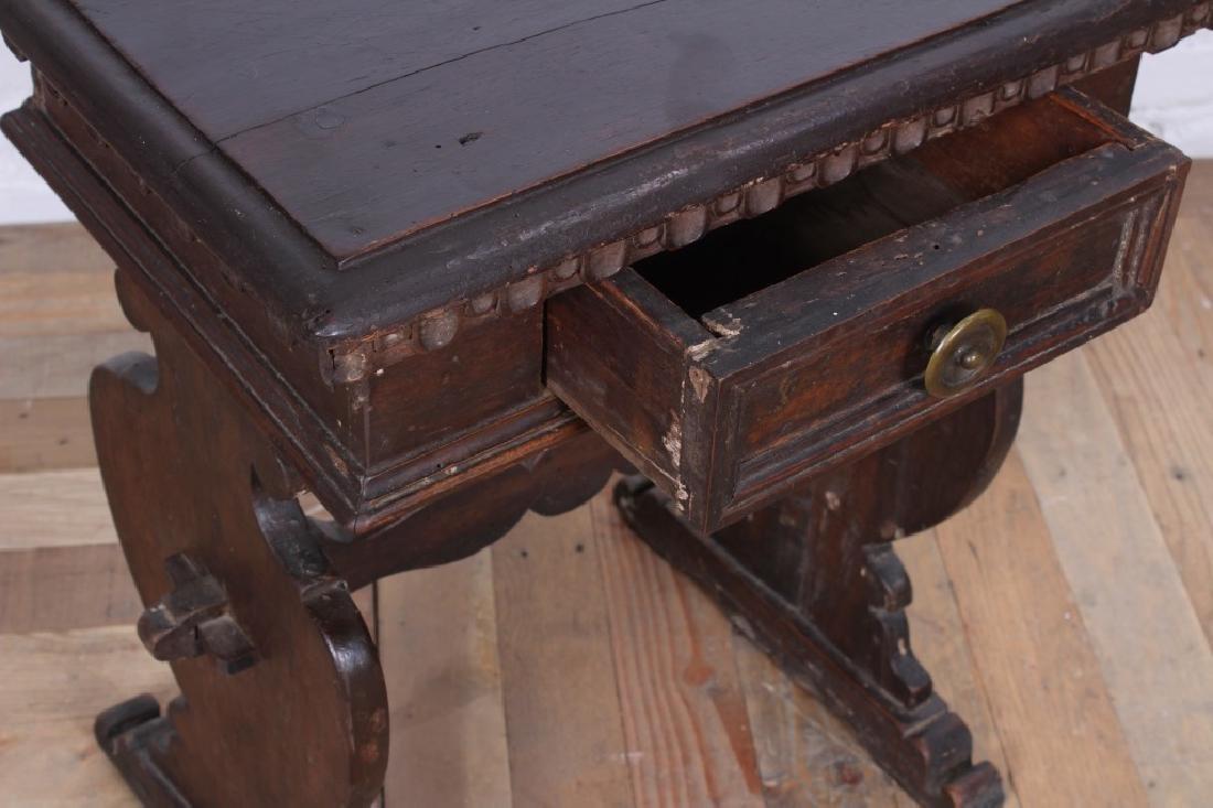 Antique Italian Walnut Side Table - 3