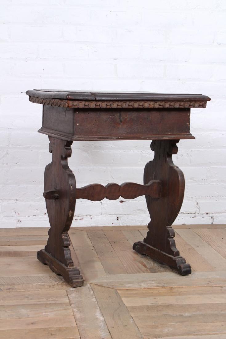 Antique Italian Walnut Side Table - 4