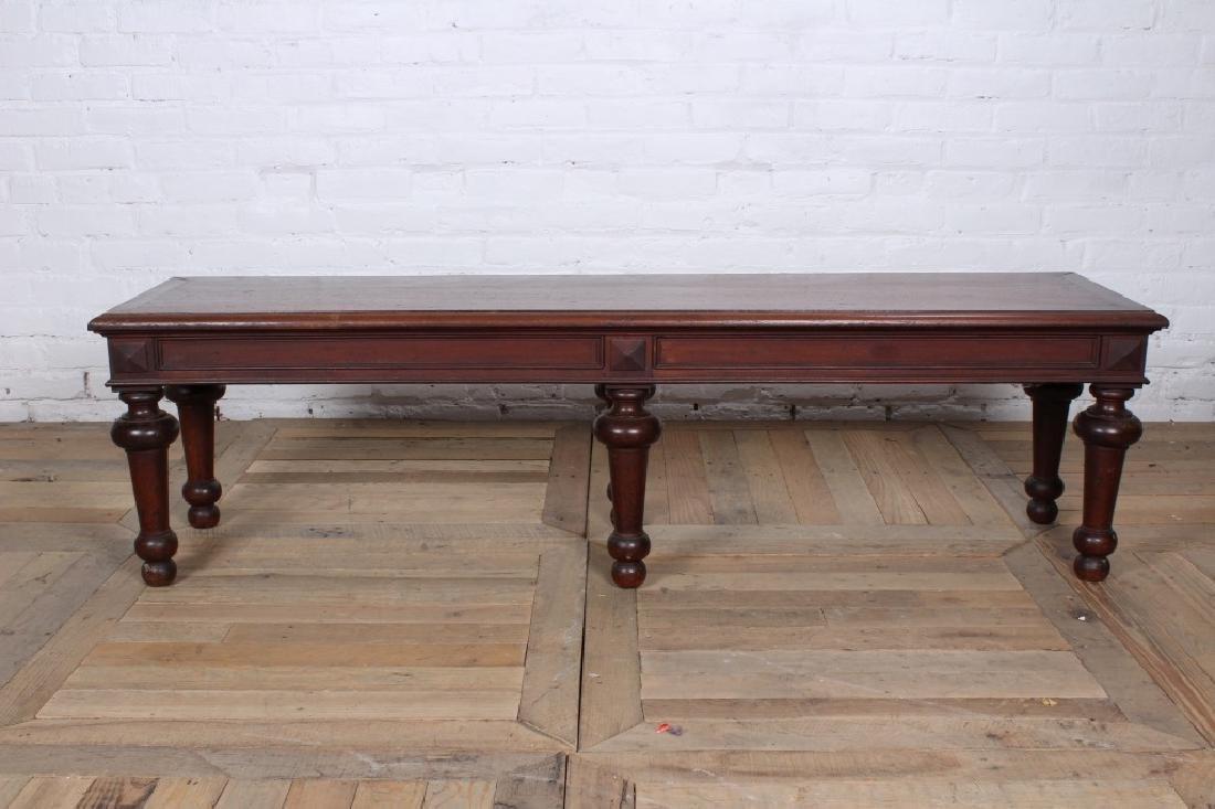 Turn of the Century Regency Style Mahogany Bench