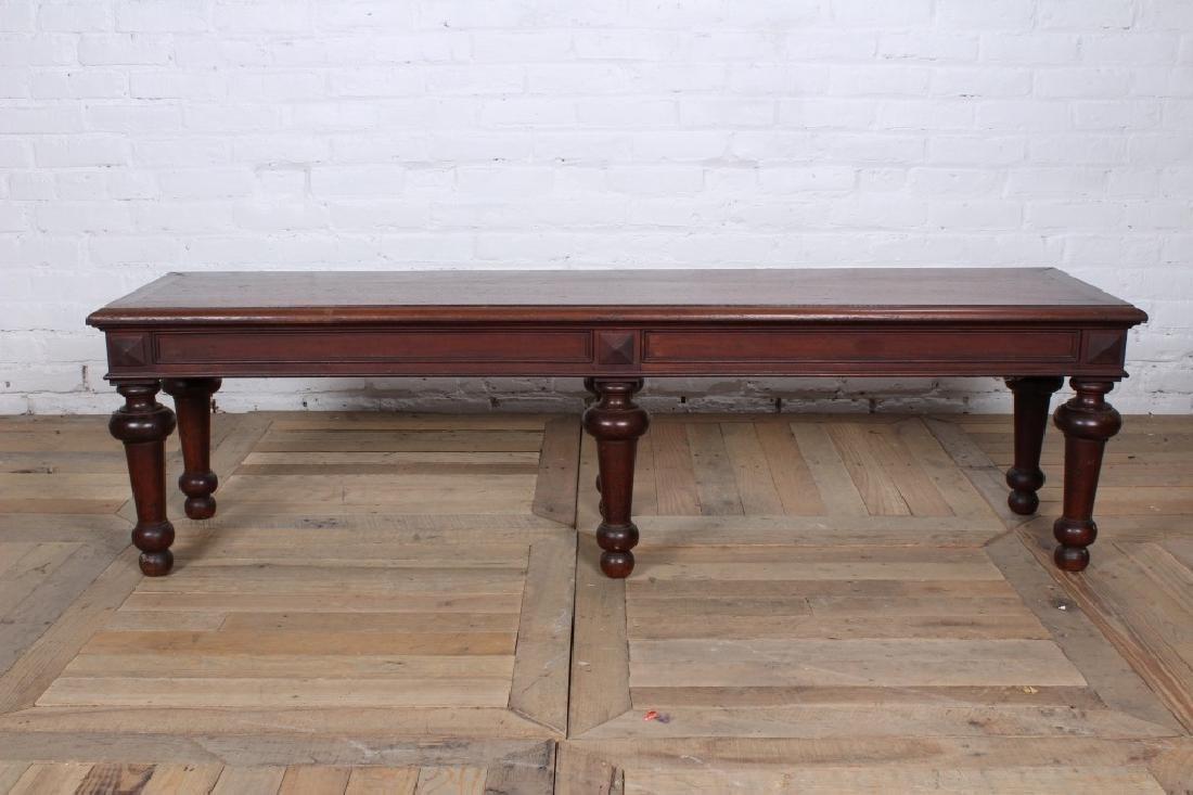 Turn of the Century Regency Style Mahogany Bench - 2