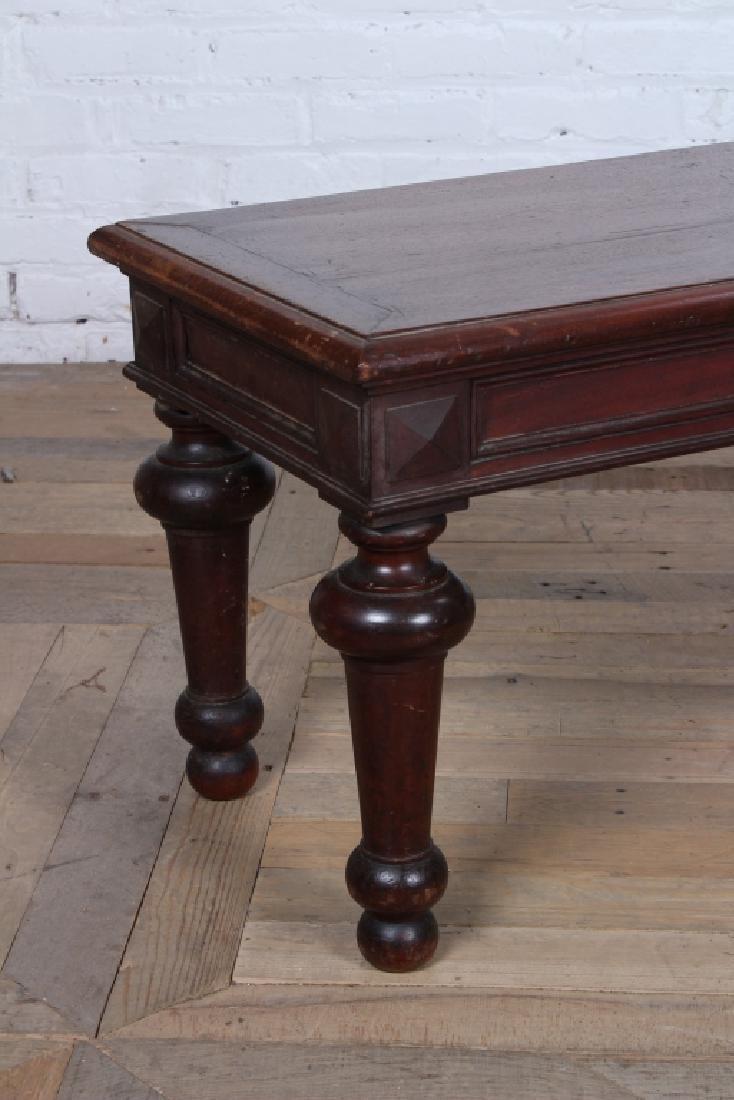 Turn of the Century Regency Style Mahogany Bench - 5