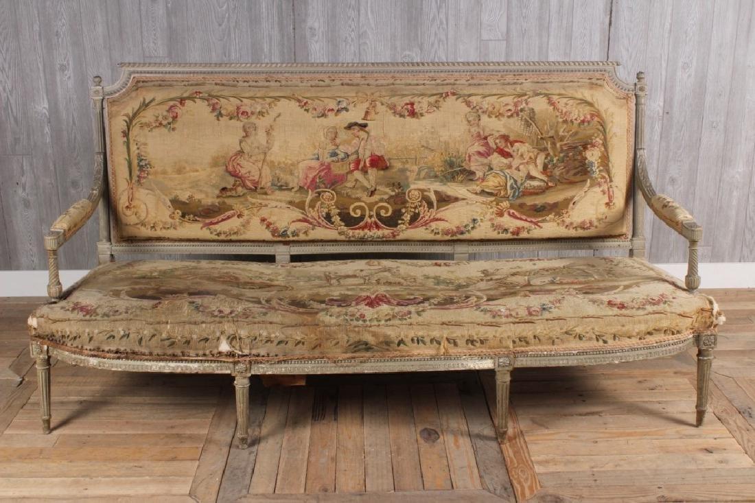 Louis XVI Style Painted Settee