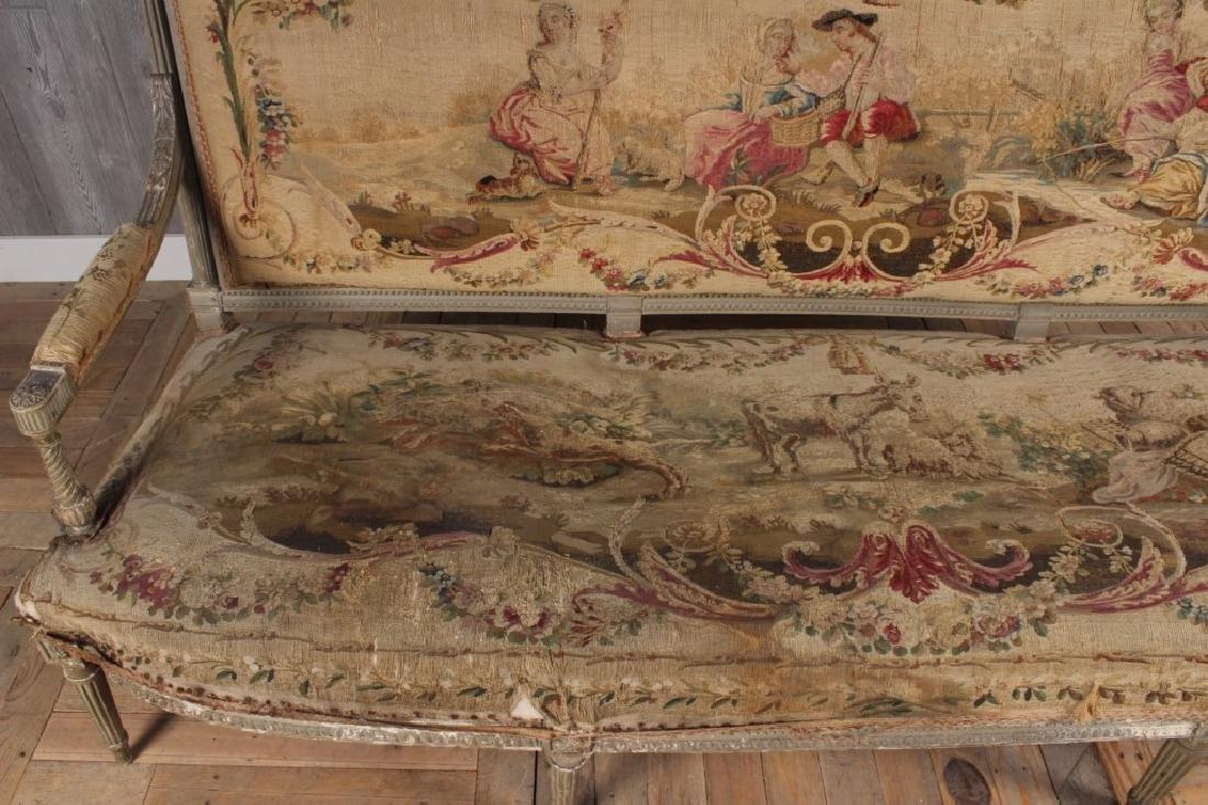 Louis XVI Style Painted Settee - 3