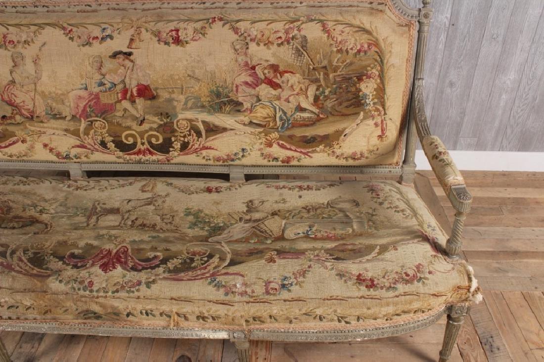 Louis XVI Style Painted Settee - 4