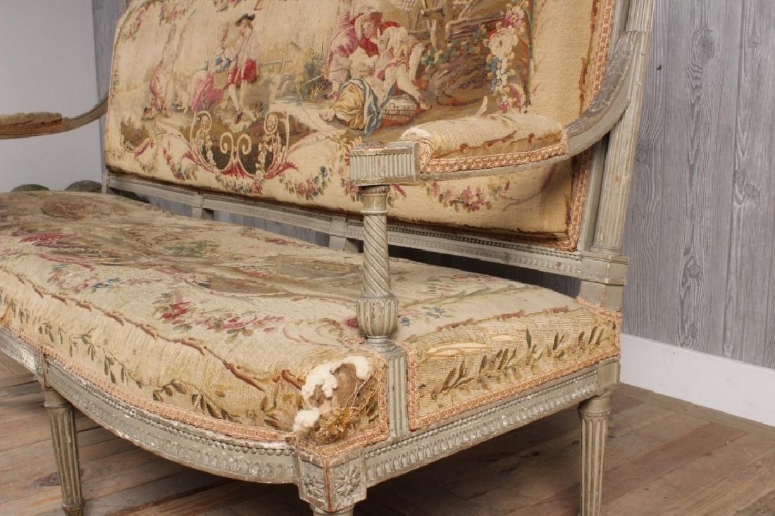 Louis XVI Style Painted Settee - 5