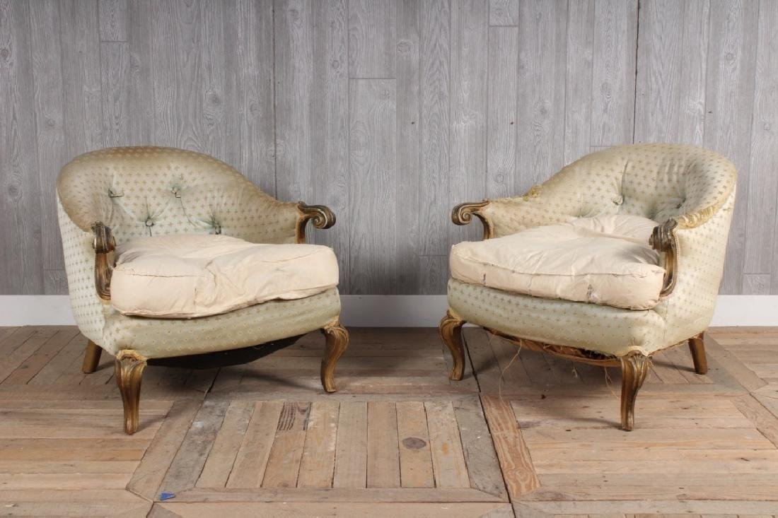 Pair Antique French Bergeres