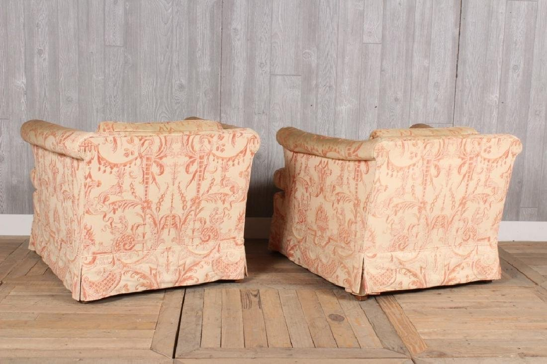 Pair Fortuny Clad Armchairs - 4