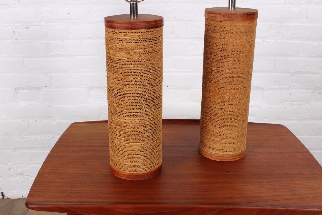 Pair of Gregory Van Pelt Cardboard Table Lamps