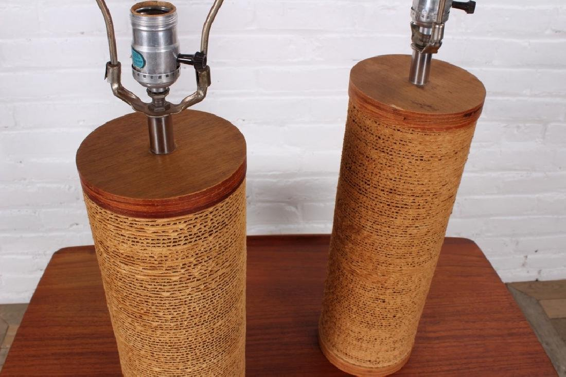 Pair of Gregory Van Pelt Cardboard Table Lamps - 4