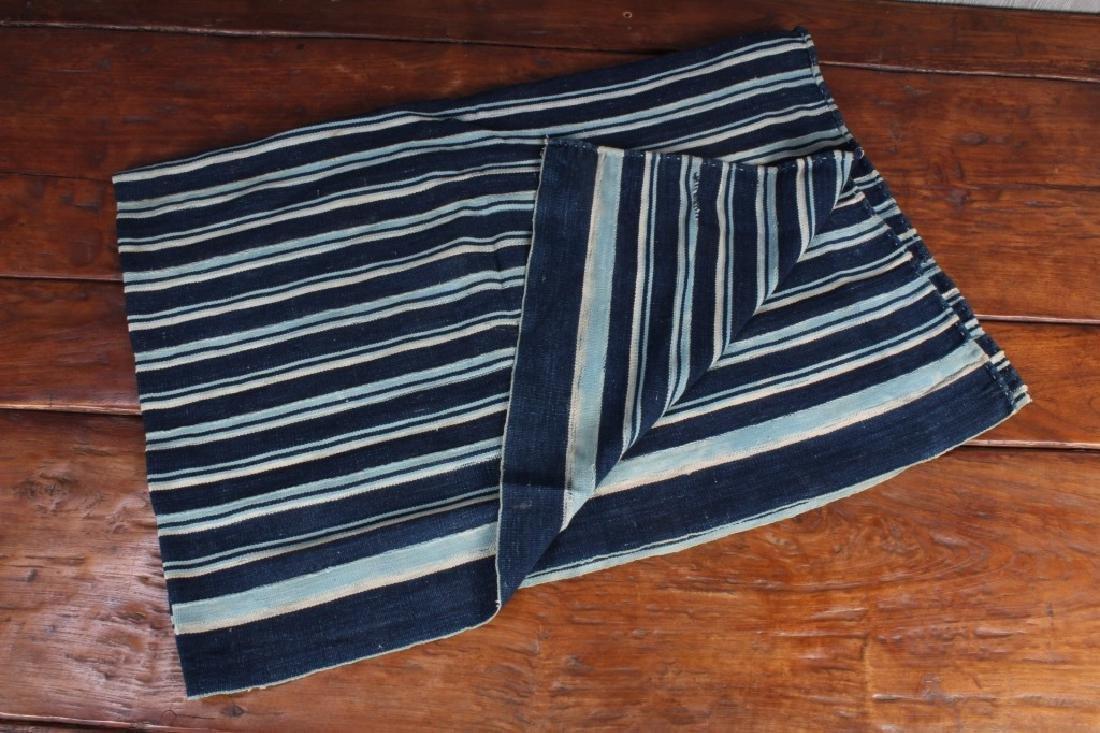 West African Striped Indigo Cloth