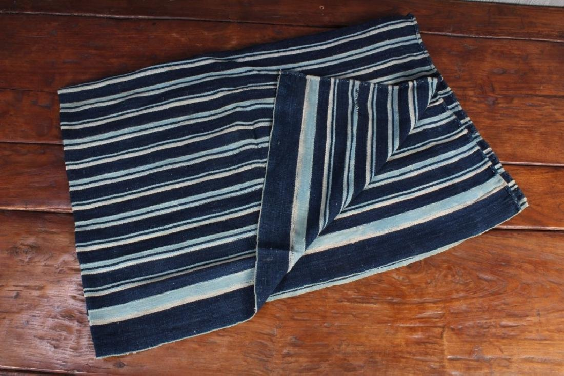 West African Striped Indigo Cloth