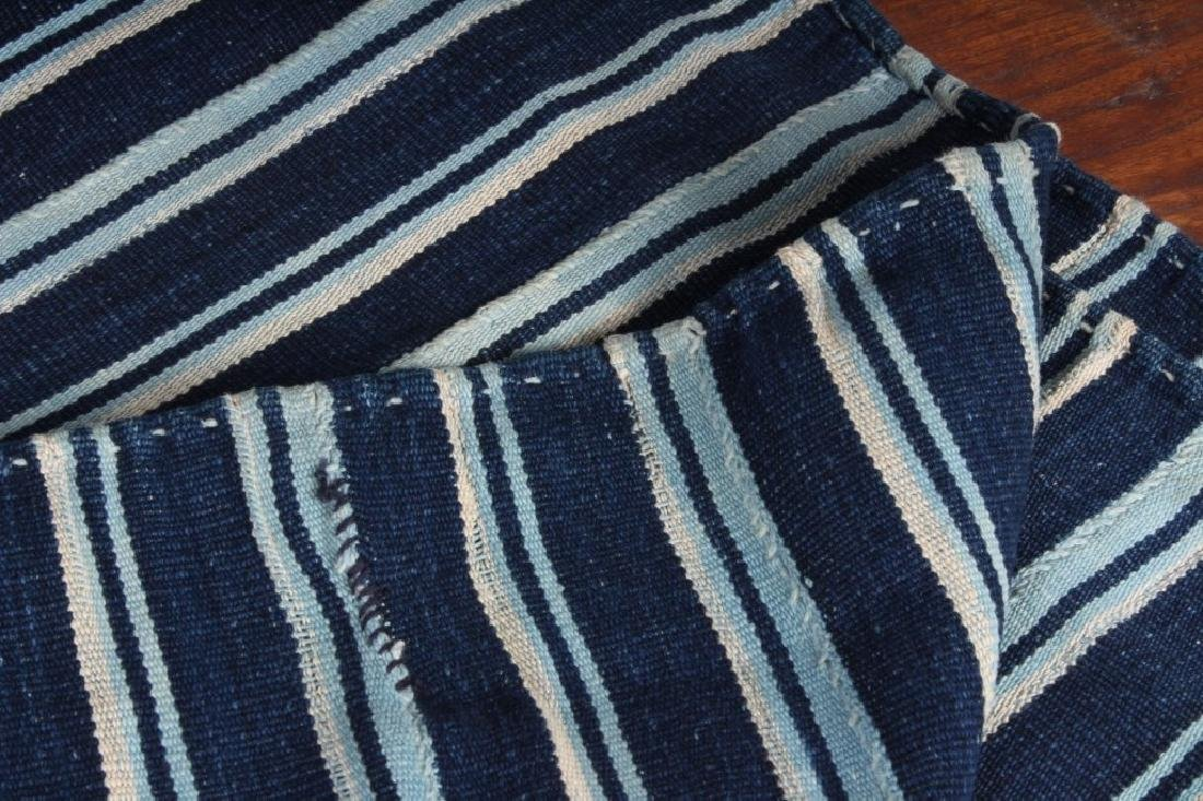 West African Striped Indigo Cloth - 2